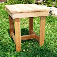 Click to enlarge image ADIRONDACK SQUARE TABLE - <i><B><font size=&#39;-1&#39;>Use it in a variety of ways!</i></B>