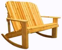 Click to enlarge image ADIRONDACK LOVESEAT ROCKER - <i><B><font size=&#39;-1&#39;> Designed for love birds with room for two!</i></B>