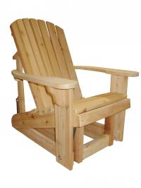 Click to enlarge image ADIRONDACK GLIDER - <i><B><font size=&#39;-1&#39;>Glide the day away!</i></B>