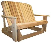Click to enlarge image ADIRONDACK LOVESEAT GLIDER -